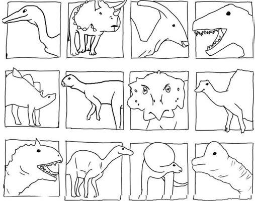 Kleurplaten Dino Masker.Dino Kleurplaten
